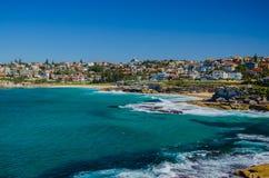 Van Bondi aan Coogee-Strand langs de kust Royalty-vrije Stock Foto's