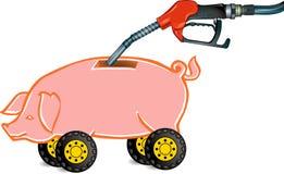 Van brandstof te voorzien piggy-bank Stock Illustratie