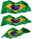 Van Brazilië (Brazilië) de Vlag Stock Foto's