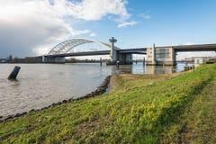 Van Brienenoord bridge in Rotterdam Stock Photography