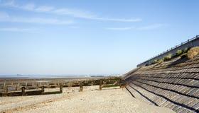 van Britse het strand Essex kustlijnsouthend Stock Foto's