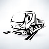 Van, bulk cargo transport Stock Photography