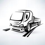 Van, bulk cargo transport vector illustration