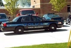 Van Buren, crucero del coche policía de Michigan fotos de archivo