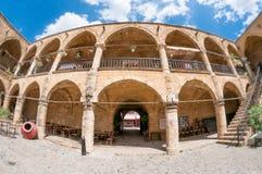 Van Buyukhan (de Grote Herberg) de binnenplaatsingang nicosia cyprus Stock Foto