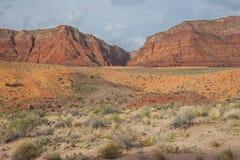 Van canion-Vermillion AZ-UT-Paria de Riviercanion Klippen wildernis-Paria Stock Afbeeldingen