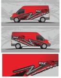 Van car και decal σχέδια εξαρτήσεων γραφικής παράστασης οχημάτων Στοκ εικόνες με δικαίωμα ελεύθερης χρήσης