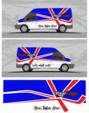 Van car και decal σχέδια εξαρτήσεων γραφικής παράστασης οχημάτων Στοκ Φωτογραφία