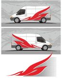 Van car και decal σχέδια εξαρτήσεων γραφικής παράστασης οχημάτων Στοκ φωτογραφία με δικαίωμα ελεύθερης χρήσης