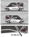 Van car και decal σχέδια εξαρτήσεων γραφικής παράστασης οχημάτων Στοκ εικόνα με δικαίωμα ελεύθερης χρήσης