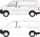 Van car illustration vector Royalty Free Stock Photos