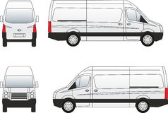 Van-3 car illustration vector Stock Photos