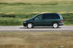 Van car on the move Stock Images