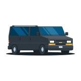 Van car noir Photo libre de droits