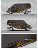 Van car and vehicle decal Graphics Kit designs. Professional graphics design decal kits for van vehicle and truck Truck and vehicle decal Graphics Kits design royalty free illustration