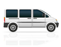 Van for the carriage of passengers vector illustration Royalty Free Stock Images
