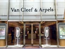 Van Cleef & Arpels lager i Ginza, Tokyo Arkivfoton