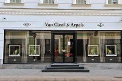 Van Cleef & Arpels statku flagowego sklep Zdjęcie Stock