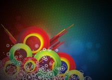 Van Colorfull vectorontwerp als achtergrond. Stock Foto