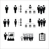 Van commerciële de vector organisatiepictogrammen royalty-vrije illustratie