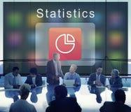 Van commerciële het Cirkeldiagramconcept Bedrijfsstatistieken Royalty-vrije Stock Afbeelding