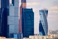 Van Commercieel van Moskou de Internationale Stad Centrummoskou Royalty-vrije Stock Foto's