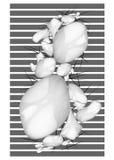 Van compoition zwarte grijze witte kleuren van de kunstaffiche abstracte rooster i Royalty-vrije Stock Foto