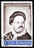 Van Constantin Cantacuzino (1640-1716) de kroniekschrijver, Culturele Verjaardagen serie, circa 1990 stock afbeelding