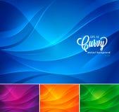 De abstracte achtergrond volume 2 van Curvy stock illustratie