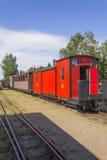 Van dagen gegaane trein Stock Foto