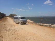 Van On The Dam Of Kawdulu Resovoire stock foto