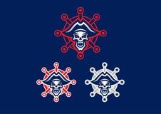 Van de 'dode Piraat 'mascotte het embleem Eps 10 stock illustratie