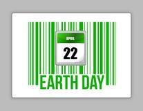 Van de aard de streepjescode en van de Aarde dag Stock Foto