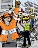 Van de aardbevingsredders van Mexico de kleurenillustratie vector illustratie