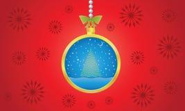 Van de Achtergrond bal van Kerstmis vector Stock Foto