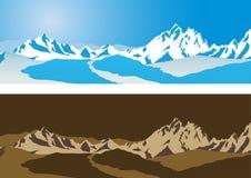Van de achtergrond berg vector Stock Afbeelding