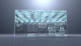 Van de achtergrond computercode programm digitale neerstortings langzame motie stock illustratie