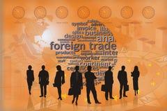 Van de achtergrond handel mensensinaasappel Stock Foto's