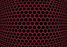 Van de achtergrond honingraat textuur stock illustratie