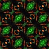 Van de van Achtergrond ikat Gewaagde Dots Seamless Pattern Abstract Geometric het Verpakkende Document Stoffendruk Indigo Blauwe  Stock Foto's