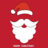 Van de achtergrond kerstman kaart Stock Fotografie