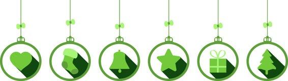 Van de achtergrond Kerstmisdecoratie elementen Stock Fotografie
