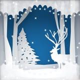 Van de achtergrond Kerstmisvakantie scène Stock Afbeeldingen