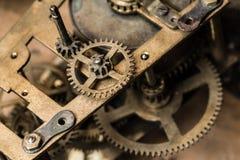 Van de achtergrond klok mechanism Stock Afbeelding