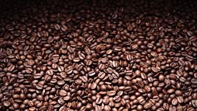Van de achtergrond koffieboon Arabica geroosterde koffie stock videobeelden