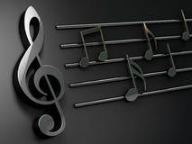 Van de achtergrond muziek ontwerp Musical die over zwarte schrijven Stock Foto