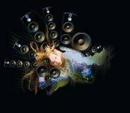 Van de achtergrond muziek samenvatting royalty-vrije illustratie