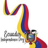 Van de de Achtergrond onafhankelijkheidsdag van Ecuador Malplaatje - Vector royalty-vrije illustratie