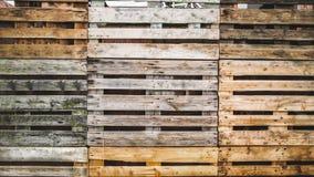 Van de achtergrond palletstextuur grunge naadloos houten pakhuisbehang stock videobeelden