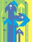 Van de achtergrond pijl reeks vector illustratie